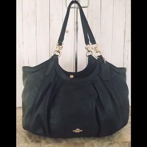 Coach Lily Refined Pebble Leather F12155 Black
